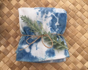Shibori tea towels, Set of 2
