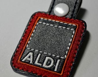Aldi Quarter Holder, Aldi Keychain, Aldi Key Chain, Aldi Quarter Keeper, Snap Tab, Key Fob, Gift For Mom