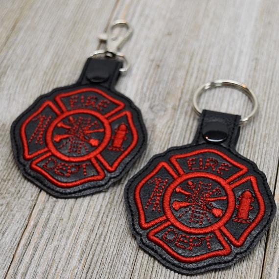 fireman support keychain fire keychain thin red line keychain maltese cross keychain fire department acrylic keychain fireman keychain