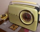 Vintage Antique radio w Bluetooth antique transistor radio speaker system BUSH TR82c radio speaker system. 1965