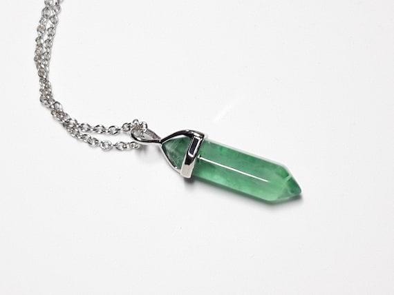 Fluorite Pendant Crystal Jewelry Fluorite Necklace