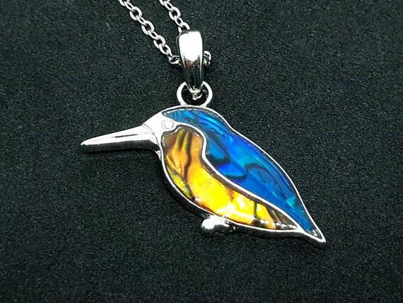 Sterling Silver Hummingbird Flower Pendant Totem Jewelry Bird Avian Jewelry
