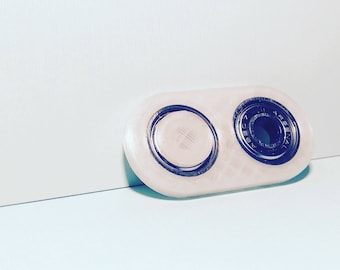 Mini 3D Printed Fidget Toy, Fidget Spinner, Finger Spinner, Double Spinner, Pocket Sized, Customized Color