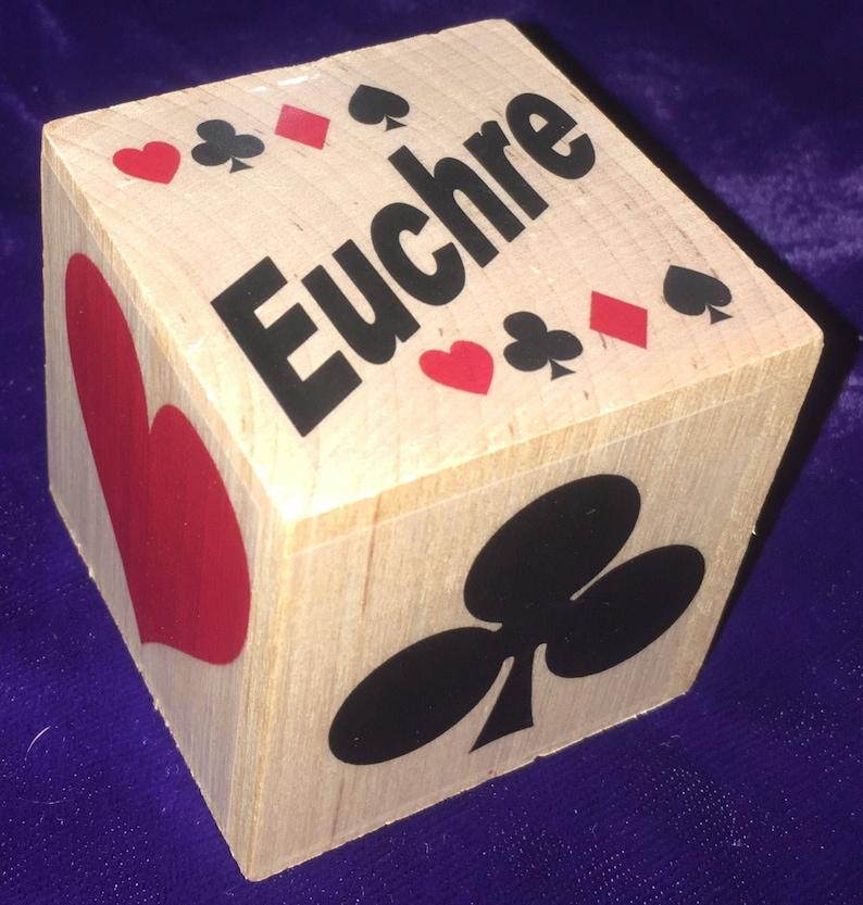 Card Suit Trump Cube EUCHRE Original Euchre Cube