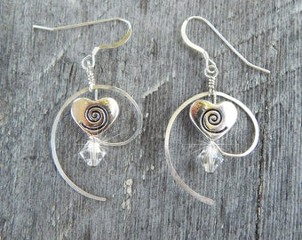 Heart Swirl Earrings