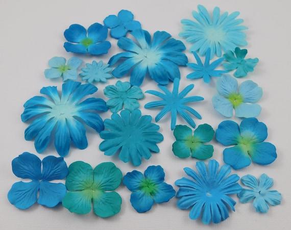 Prima paper flowers aqua assortment no 434 got flowers prima etsy image 0 mightylinksfo