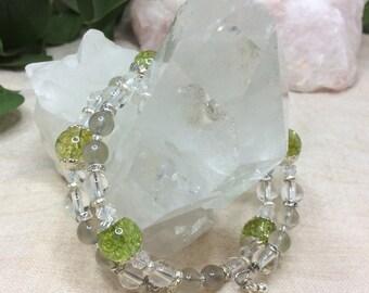 Green Quartz double wire Bracelet