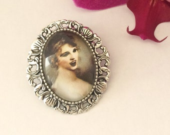 Vera the Vampire brooch and pendant | Horror | Halloween jewelry