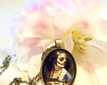 Zoe the Mink Munching Zombie necklace | Horror | Halloween jewelry