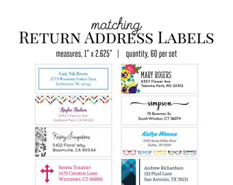 Matching Return Address Labels to Coordinate with any Kelly Renay note card or notepad designs