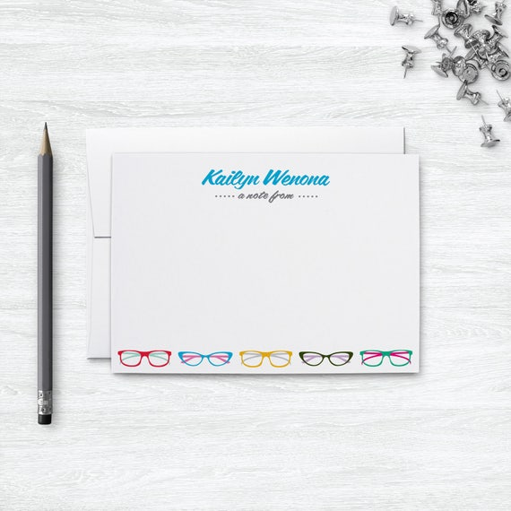 glasses personalized stationary set from the desk of etsy