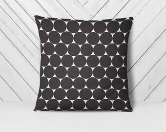 Decorative Throw Pillows 18x18 | Black and White Pillow Covers | Polka Dot Pillow Case | Black White Pillow | Modern Throw Pillow Covers