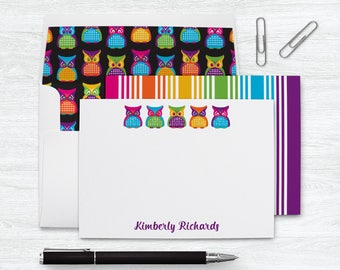 Personalized Stationery Set | Owl Notecards | Personalized Owl Stationary Set | Owl Note Card | Owl Thank You Card | Owl Gifts | PSFLN_0065