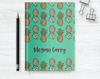 Personalized Hardcover Journal | Personalized Notebook Pineapple | Pineapple Journal | Pineapple Notebook | Pineapple Lover | PSNTB_0065