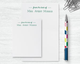 Personalized Notepad Set | From the Desk of Notepad | Teachers Notepad | Notepad for Teachers | Teachers Stationary Set | PSNTP_0039