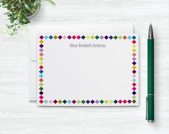 Personalized Stationery, Personalized Stationary, Cute Notecard Set Gift for Kids, Note Cards Personalized Gifts for Her, Blank Notecards