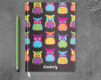 Personalized Notebook Journal | Owl Notebook | Owl Journal | Owl Diaries | Personalized Owl Stationary | Owl Journal Cover | PSNTB_0065