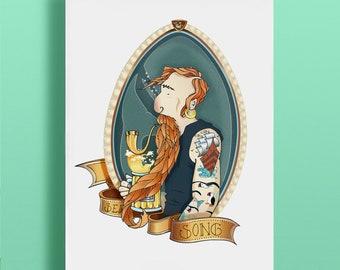 Poster Sailor Print Illustration Torran Art Design Drawing Poster Edition Decoration Deco Tattoo