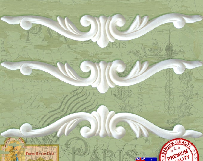3 x Shabby Chic French Furniture Mouldings Furniture Appliques Furniture Carvings Furniture Decorations. Made in Australia