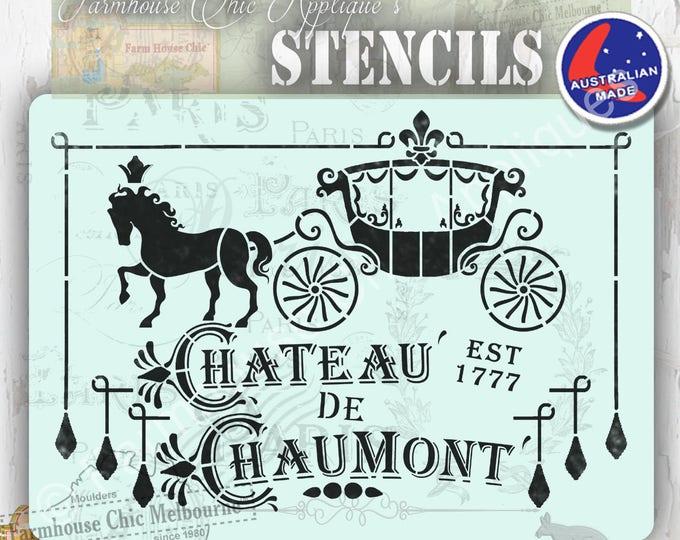Mylar Furniture Stencil, Paris Chateau Stencil, French Vintage Stencil, Artist Stencil, Cake Stencil, Wall Stencil,  #ParisStencil Horse