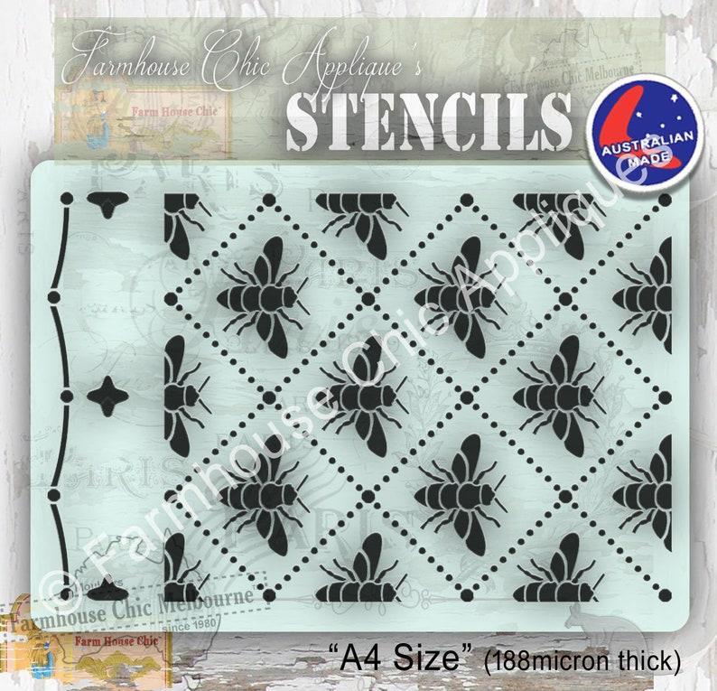 Seamless Honey Bees Mylar Furniture Stencil, French Style Vintage Stencil,  Art Stencil Cake Stencil, Pochoirs de meubles, Abeilles!