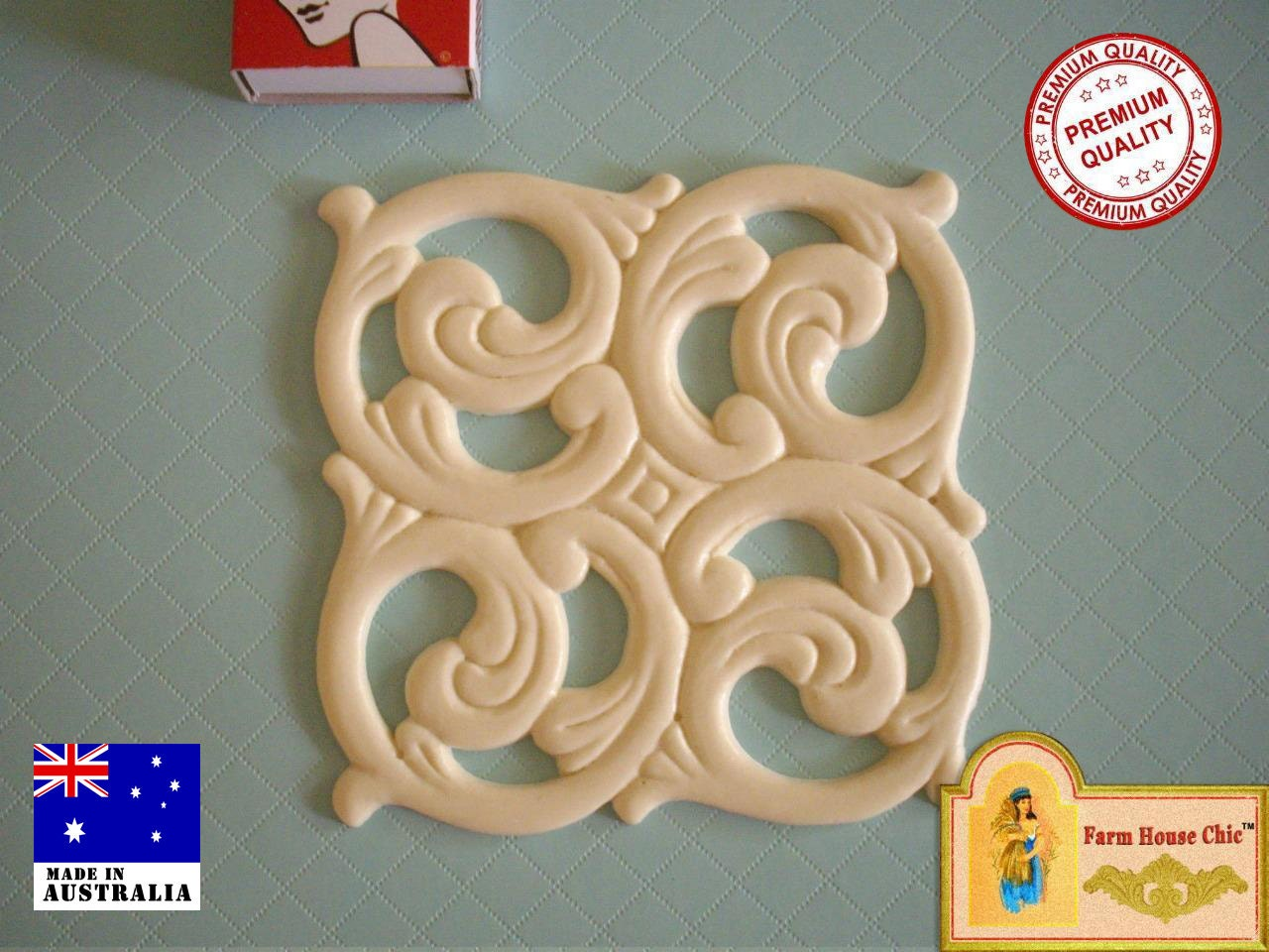 Shabby french chic resin furniture fretwork center piece