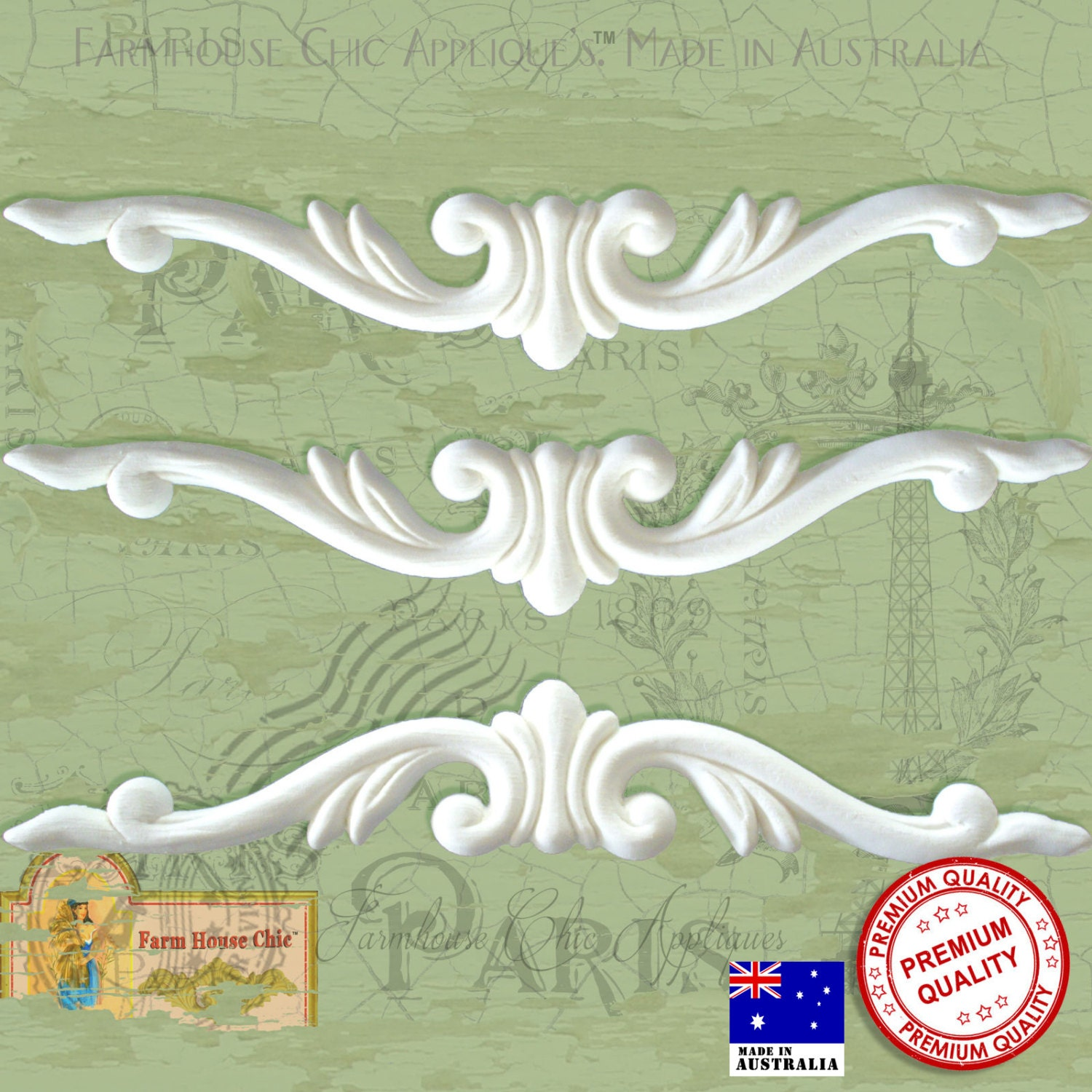 Shabby chic french furniture mouldings furniture appliques