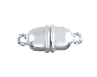 Argentium silver magnetic clasp