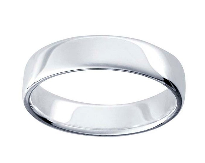 Argentium silver wedding band 5.1mm