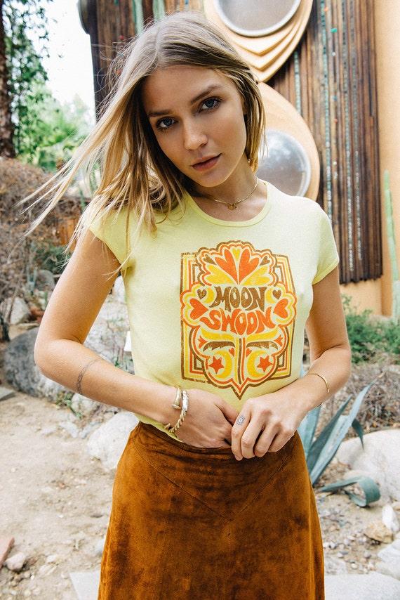 Mond Ohnmacht 70er Vintage T Shirt Damen 70er Jahre Etsy