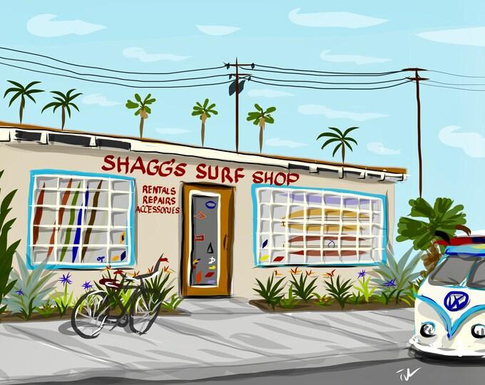 Classic 60s Shagg's Surf Shop