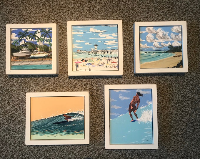 "Framed Set ""Water and Sun"""