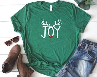 b3da1c459 Antler Joy Christmas shirt, Christmas T-shirt, Winter Tee, Winter saying  shirt, Womens shirt, Christmas shirt, Glitter shirt