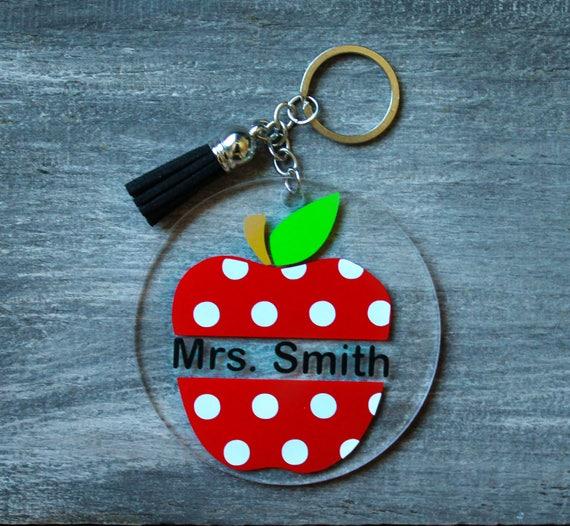 Keychain my teacher is to eat jewelry bag Keychain personalized custom gift personalized centerpiece item