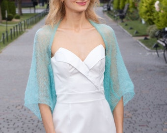 KNITTING PATTERN bridal mohair shawl knit pdf tutorial bridesmaid coverup lavender evening wrap simple level cover up winter fall wedding