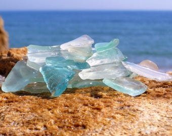 Genuine Sea Glass bulk white Seaglass aquamarine sea glass destination wedding invitation wedding favors destination sign name sign wedding