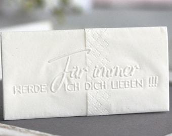 25 handkerchiefs tears of joy / Embossing Forever