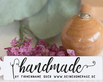 Wooden stamp handmade with love_2 for handcrafted products//with love//gifts//decorating//trailers//diy//company label
