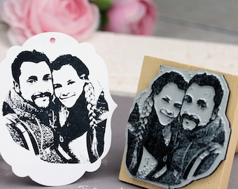 Photo stamp with your picture / Personalized / Wedding