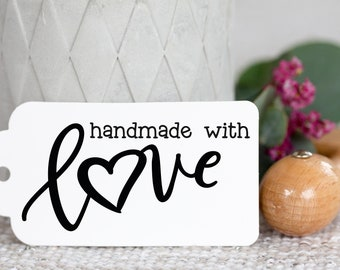 Wooden stamp handmade with Love_1 for Handmade//gifts//decorating//trailers//diy//company label