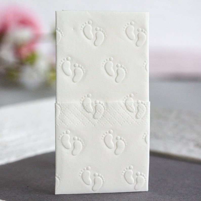 25 embossed handkerchiefs for tears of joy / Embossing: Baby image 0