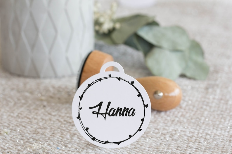 Wooden Stamp Name Child Kindergarten property personalized image 0