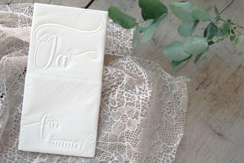 25 Embossed handkerchiefs for Tears of joy//embossing: image 0