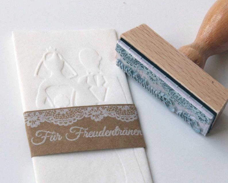 Stamp tears of tears handkerchiefs wedding image 0