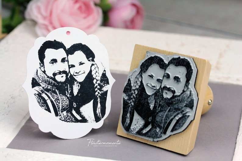 Photo stamp with your picture/personalized/wedding image 0