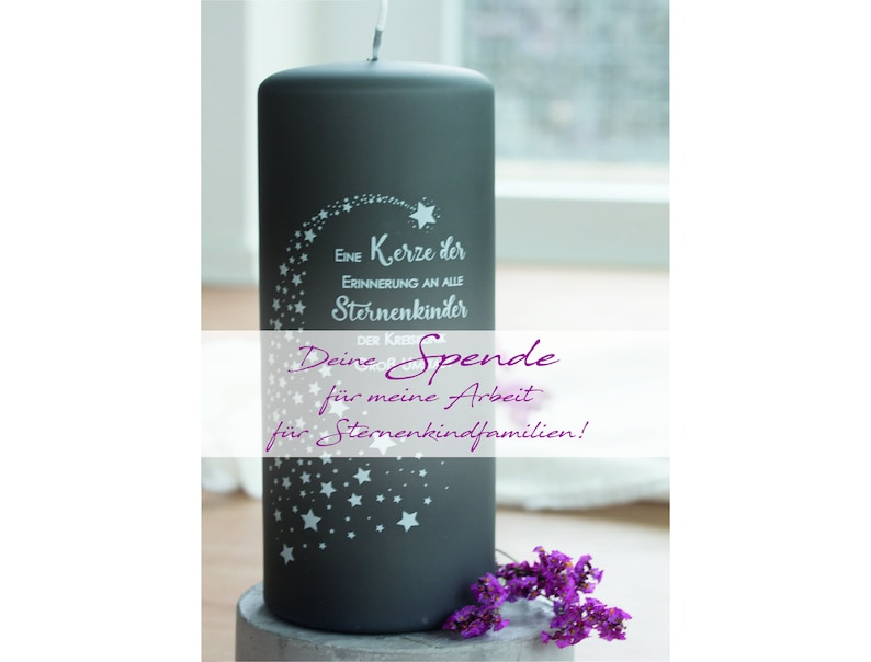 Candle donation for star bondfamily//mourning candle//Your image 0
