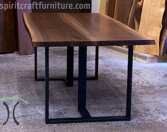 A Live Edge Black Walnut Dining Conference Table X Etsy - 36 x 96 conference table