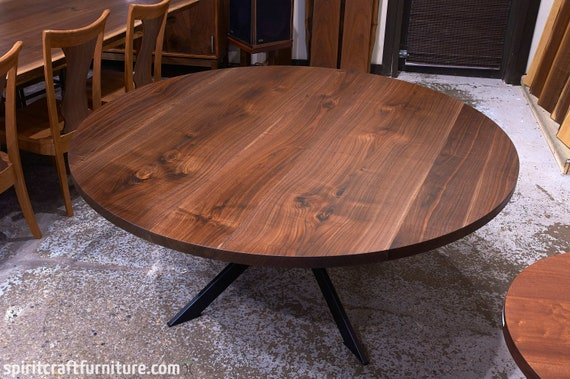 Custom Round Walnut Table Top Only, Round Wood Table Tops