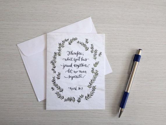 Wedding Card Anniversary Mark 109 Bible Verse Scripture