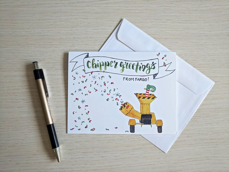 Chipper Greetings Fargo Woodchipper Christmas Holiday Etsy